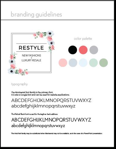 Branding Style Guide Portfolio Example 4 - P Green Design