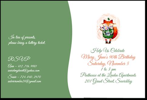Invitations & Greeting Cards Portfolio Example 6 - P Green Design